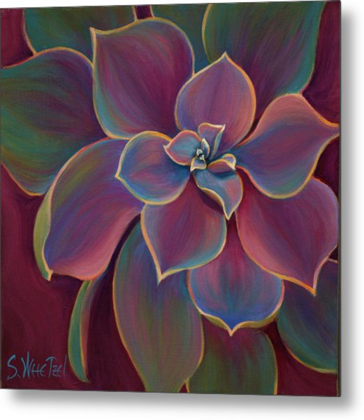 Metal Print featuring the painting Succulent Delicacy by Sandi Whetzel