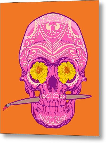 Sugar Skull 2 Metal Print