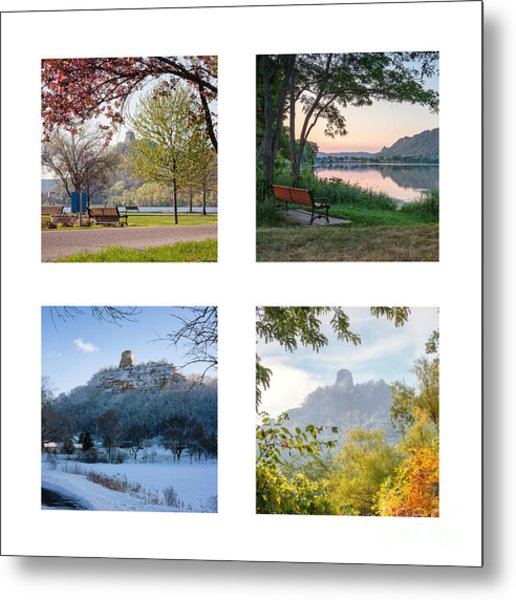 Metal Print featuring the photograph Sugarloaf Four Seasons Square by Kari Yearous