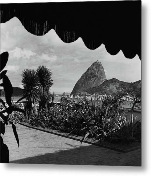 Sugarloaf Mountain Seen From The Patio At Carlos Metal Print