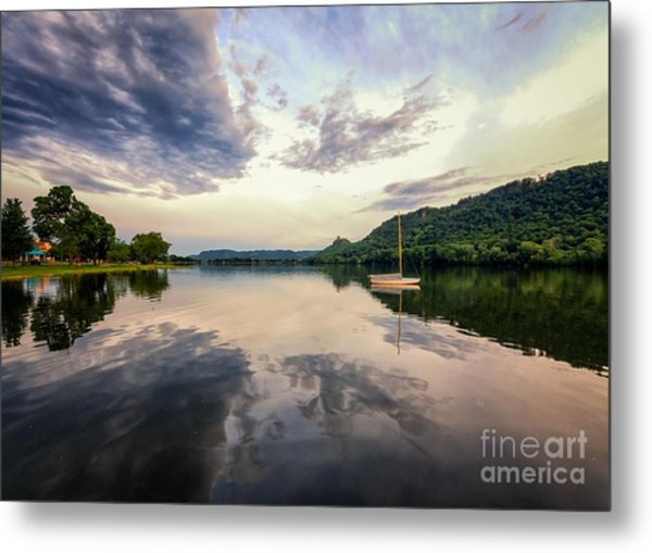 Metal Print featuring the photograph Sugarloaf Sailboat Evening by Kari Yearous
