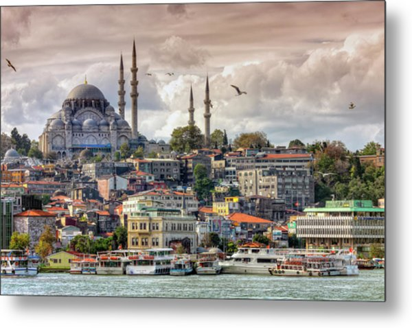 Suleymaniye Mosque, Fourth Imperial Metal Print