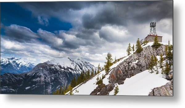 Sulphur Mountain Up High Metal Print by Chris Halford