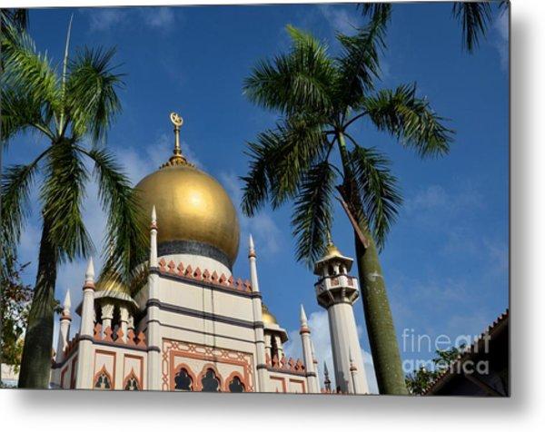 Sultan Masjid Mosque Singapore Metal Print
