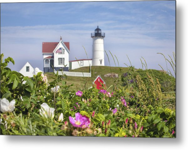 Summer At Nubble Light Metal Print