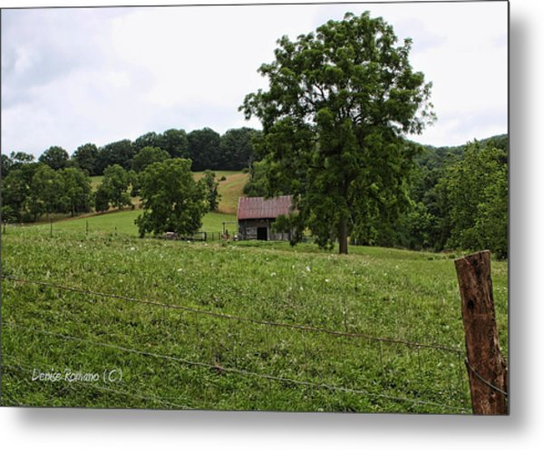 Summer Barn Metal Print