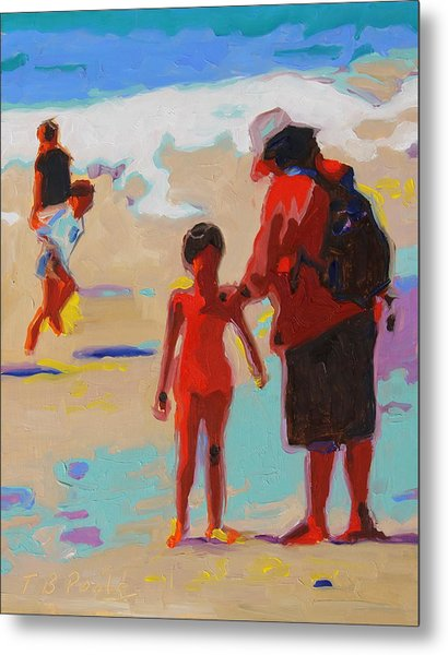Summer Beach Play Metal Print