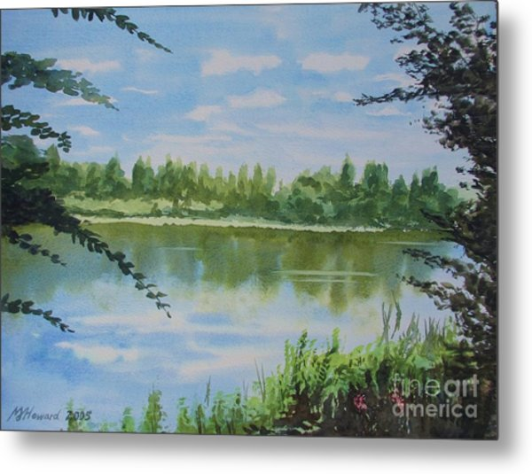 Summer By The River Metal Print