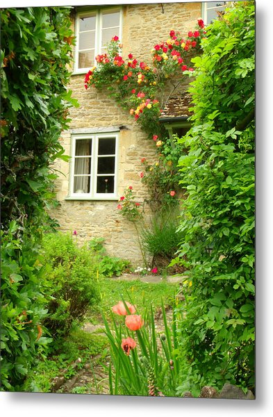 Summer Cottage Metal Print