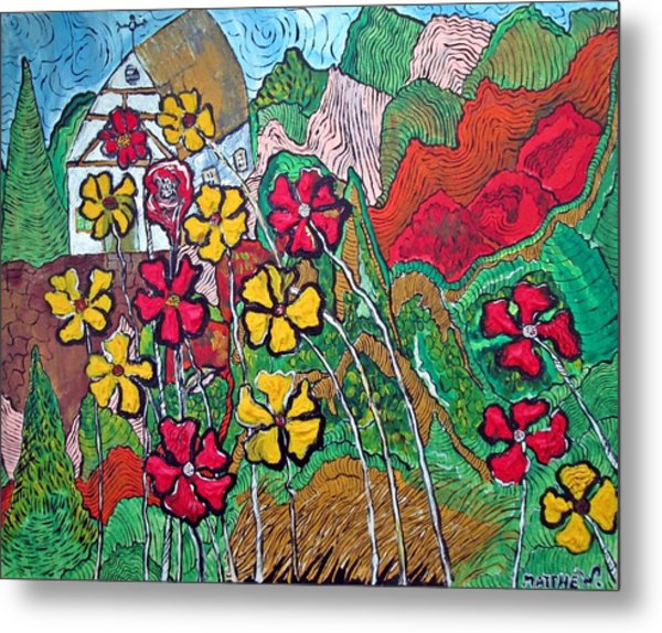 Summer Cottage Metal Print by Matthew  James