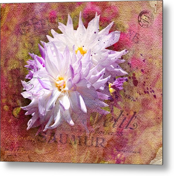 Summer Dahlias Metal Print