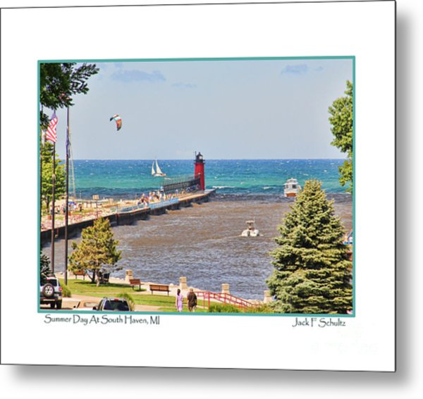 Summer Day At South Haven Mi Metal Print
