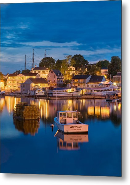 Summer Evening On Boothbay Harbor Metal Print
