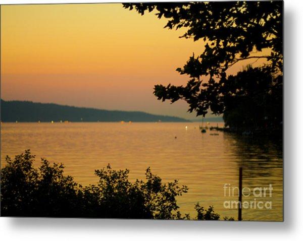 Summer Evening On Cayuga Lake Metal Print
