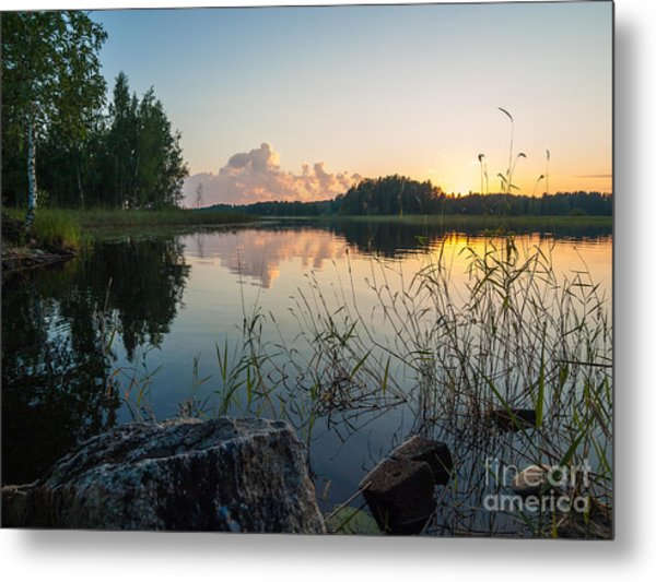 Summer Evening To Remember Metal Print