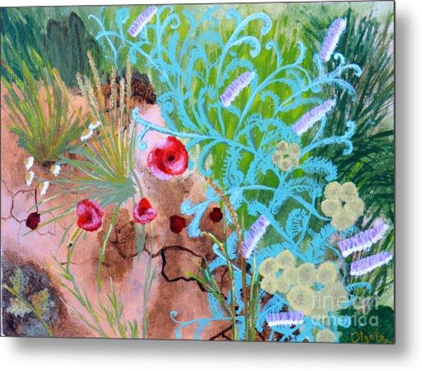 Summer Flowers Metal Print by Olga R