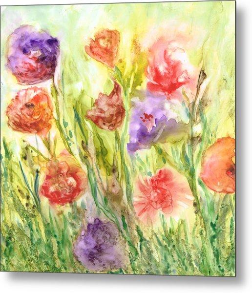 Summer Flowers Metal Print by Rosie Brown
