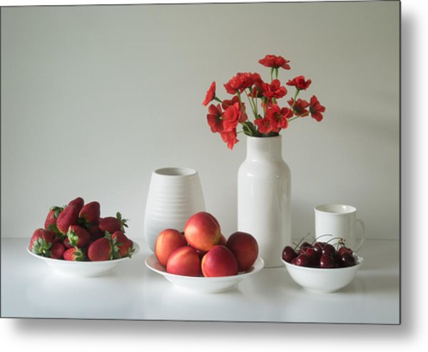 Summer Fruits Metal Print by Jacqueline Hammer