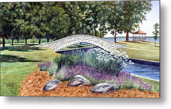 Summer In Doty Park Metal Print by Thomas Kuchenbecker