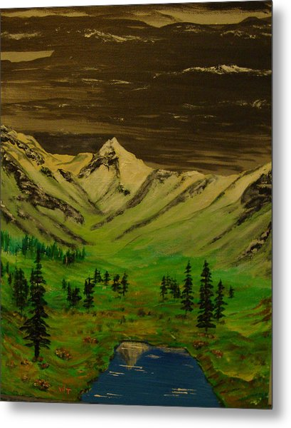 Summer In The Mountains Metal Print by Iam Wayne