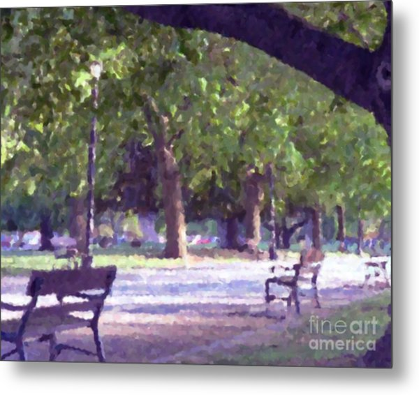 Summer In The Park Metal Print