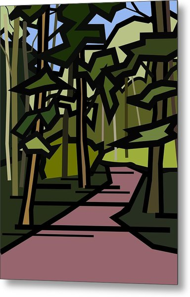 Summer In The Woods Metal Print by Kenneth North