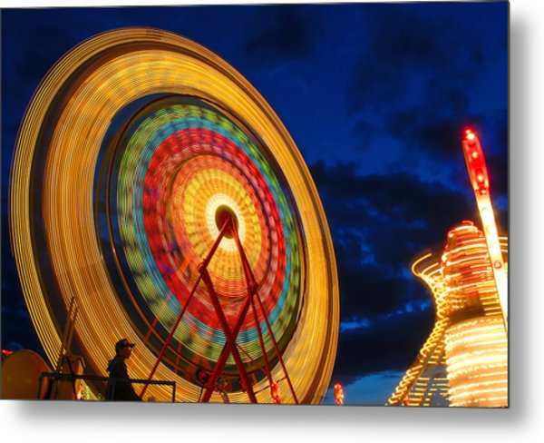 Summer Nights Ferris Wheel Metal Print