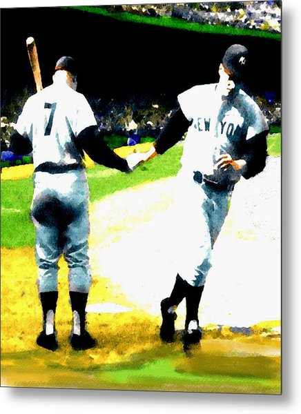 Summer Of The Gods  Iv 1961 Mickey Mantle Metal Print