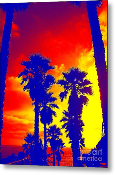 Summer Palms Metal Print