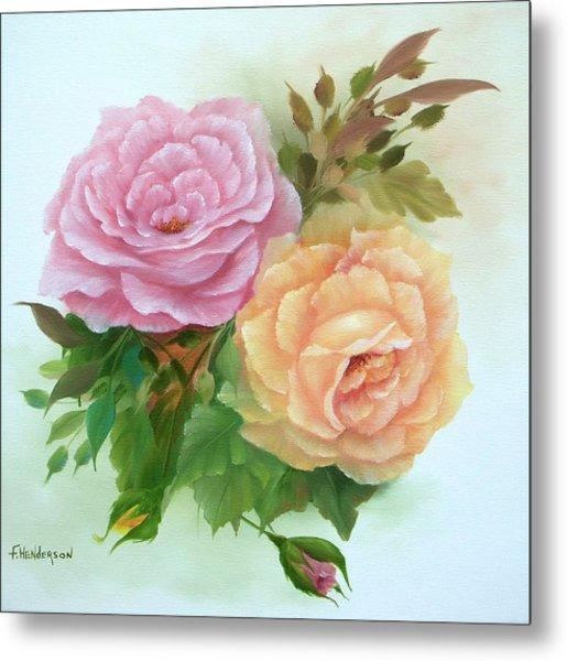 Summer Roses Metal Print by Francine Henderson
