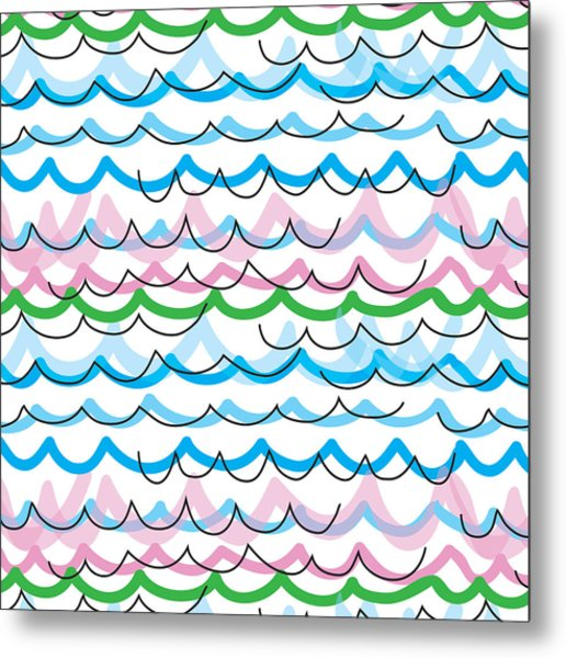 Metal Print featuring the digital art Summer Seaside  by Jocelyn Friis