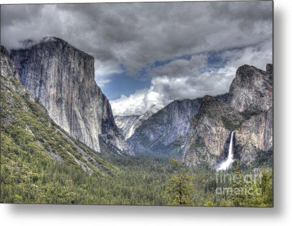 Summer Storm At Yosemite Metal Print