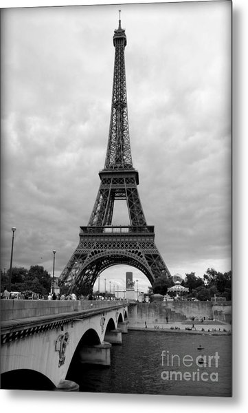 Summer Storm Over The Eiffel Tower Metal Print