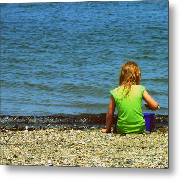 Summer Time On The Coast Of Maine Metal Print by Christy Beal