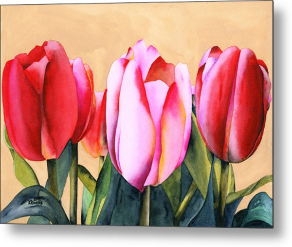 Metal Print featuring the painting Summer Tulips by Ken Powers