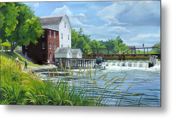 Summertime At The Old Mill Metal Print