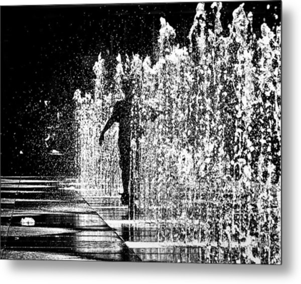 Metal Print featuring the photograph Summertime Funtime At Yonge Dundas Sq Toronto Canada by Brian Carson