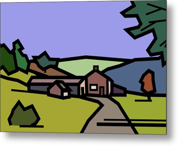 Summertime On Joe's Farm Metal Print by Kenneth North