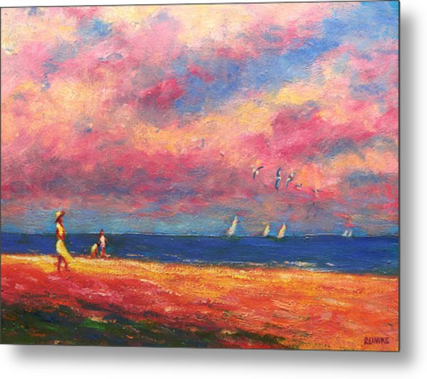 Summertime On The Beach Metal Print