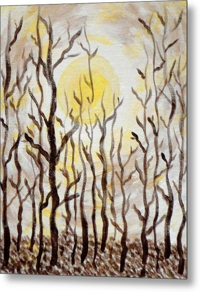 Sun And Trees Metal Print by Valerie Howell