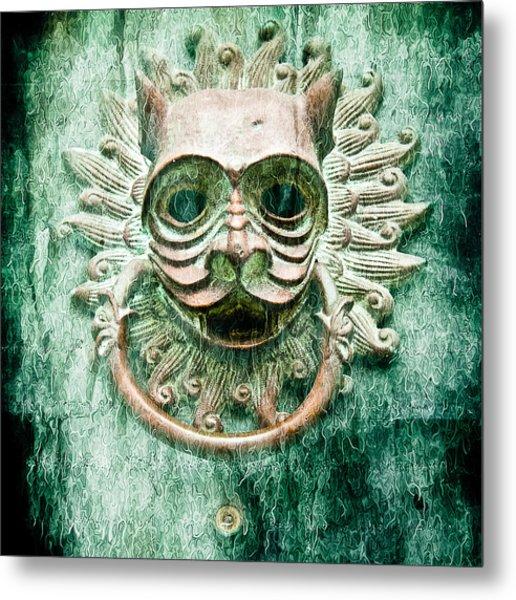 Sun Cat Door Knocker Old Polar Metal Print