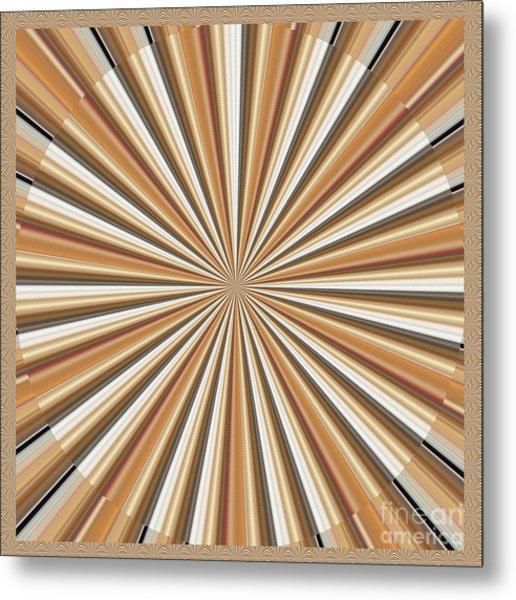 Sun Chakra Gold Round Circle Sparkle Motivational Decoration Yoga Meditation Tool Metal Print