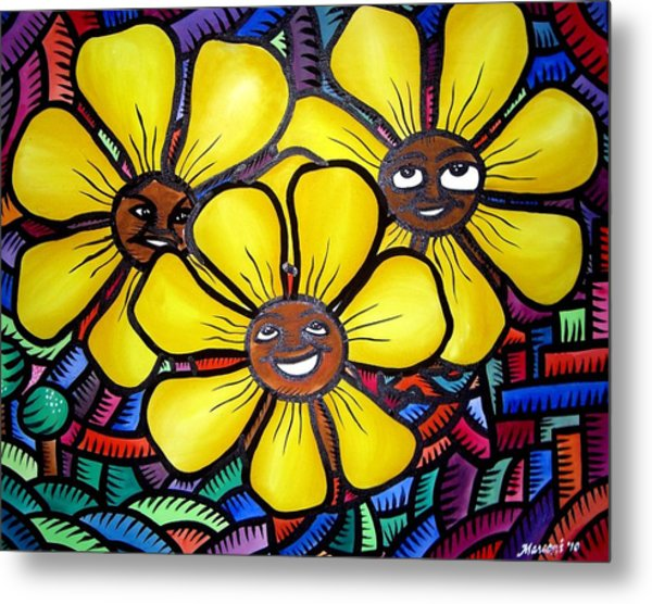 Sun Flower And Friends Manila  2010 Metal Print