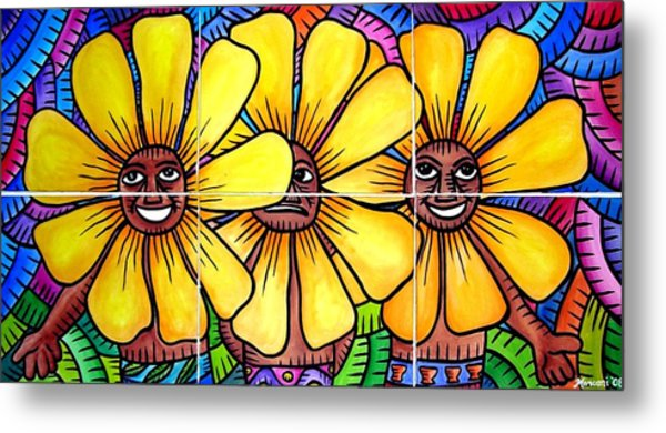 Sun Flowers And Friends 2008 Metal Print