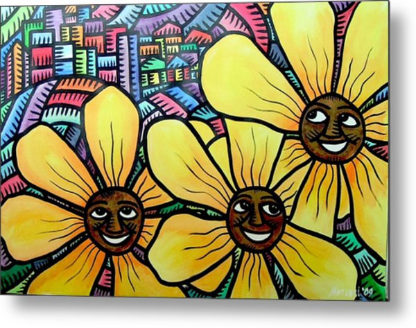 Sun Flowers And Friends Sf 2 2009 Metal Print