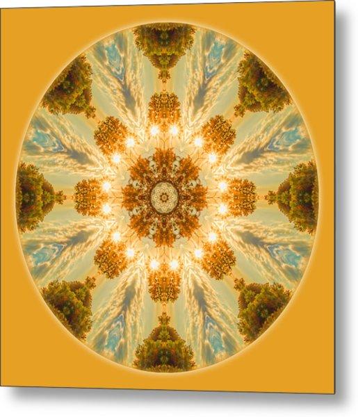 Sun Glow Mandala Metal Print