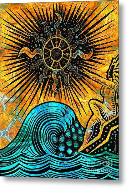 Big Sur Sun Goddess Metal Print