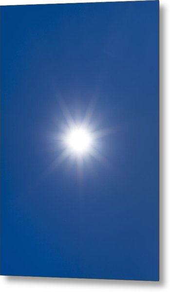 Sun In A Blue Sky Metal Print by Science Photo Library