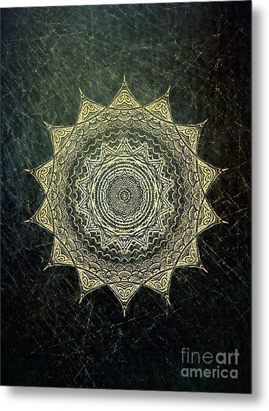 Sun Mandala - Background Variation Metal Print