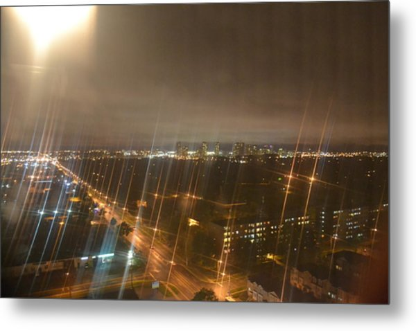 Sun Over City Lights Metal Print by Naomi Berhane